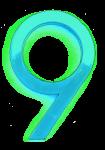 Neon 9 Aqua - John Duffield duffield-design