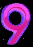 Neon 9 Pink - John Duffield duffield-design