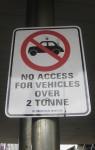 No car access over 2 tonnes Bev Dunbar Maths Matters