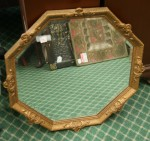 Octagonal antique mirror Bev Dunbar Maths Matters