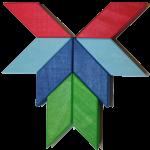 One axis of symmetry block pattern Bev Dunbar Maths Matters
