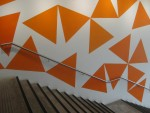 Orange Triangle Wall Pattern Sydney Bev Dunbar Maths Matters