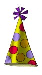 Party Hat (yellow) - John Duffield duffield-design