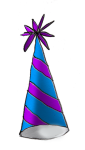 Party Hat (blue stripe) - John Duffield duffield-design