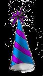 Party Hat (blue stripe) - John Duffield duffield-design