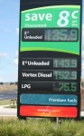Petrol Price Sign2 Bev Dunbar Maths Matters