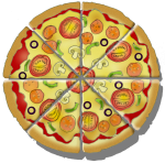 Fraction Pizza - 8 Eighths - John Duffield duffield-design