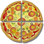 Fraction Pizza - Four Quarters - John Duffield duffield-design