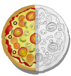 Pizza Half with outline - John Duffield duffield-design