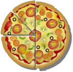 Fraction Pizza - Mixed Fractions - John Duffield duffield-design