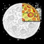 Fraction Pizza - One Quarter - John Duffield duffield-design