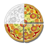 Fraction Pizza - Three Quarters - John Duffield duffield-design