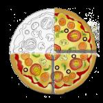 Fraction Pizza - Three Quarters - John Duffield duffield-design