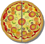 Fraction Pizza - Two Halves - John Duffield duffield-design