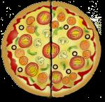 Fraction Pizza - Two Halves - John Duffield duffield-design