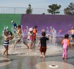 Playground Circular Water Feature in action Bev Dunbar Maths Matters
