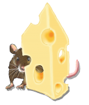 Position - mouse - behind cheese  - location John Duffield duffield-design