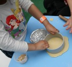 Pressing the dough circle Bev Dunbar Maths Matters