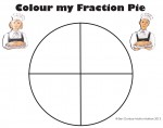 Quarters Colour my Fraction Pie Bev Dunbar Maths Matters