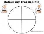 Quarters Colour my Fraction Pie Bev Dunbar Maths Matters