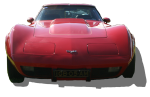 Red Chevrolet Corvette Car - front - Bev Dunbar Maths Matters