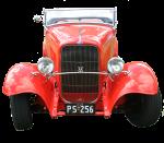Red Vintage Car - Front - Bev Dunbar Maths Matters