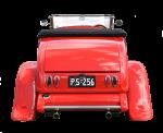 Red Vintage Car - Rear - Bev Dunbar Maths Matters