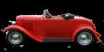 Red Vintage Car - Side - Bev Dunbar Maths Matters