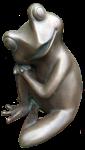 Relaxed bronze frog - amphibian - Bev Dunbar Maths Matters