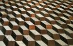 Rhombus optical Illusion Mosaic Tiles Bev Dunbar Maths Matters