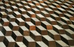 Rhombus optical Illusion Mosaic Tiles Bev Dunbar Maths Matters
