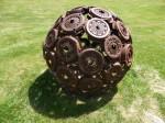 Richard Moffatt old brake discs Sphere (Wild Brumby Jindabyne) Bev Dunbar Maths Matters