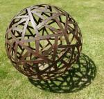 Richard Moffatt old metal strips Sphere (Wild Brumby Jindabyne) Bev Dunbar Maths Matters