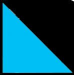 Right Angle Triangle Blue John Duffield
