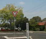 Road Sign Give Way at Roundabout Bev Dunbar Maths Matters