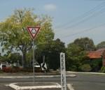 Road Sign Give Way at Roundabout Bev Dunbar Maths Matters
