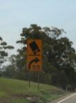 Road sign 55 kph Bev Dunbar Maths Matters