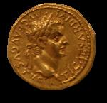 Roman Emperor Tiberius Gold Coin 35 AD Bev Dunbar Maths Matters