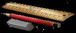 Ruler Pencil & Rubber - John Duffield duffield-design