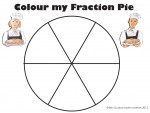 Sixths Colour my Fraction Pie Bev Dunbar Maths Matters