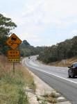 Slippery next 8 km if frosty Sign Bev Dunbar Maths Matters
