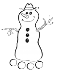 Snowman lineart - John Duffield duffield-design