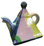 Square Pyramid Teapot $150 Bev Dunbar Maths Matters