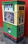 Street Telco Box painted as a Bondi Tram 1929 Bev Dunbar Maths Matters