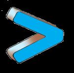 Symbols - Greater Than - Blue - John Duffield duffield-design
