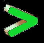 Symbols - Greater Than - Green - John Duffield duffield-design