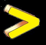 Symbols - Greater Than - Yellow - John Duffield duffield-design