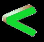 Symbols - Less Than - Green - John Duffield duffield-design