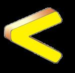 Symbols - Less Than - Yellow - John Duffield duffield-design