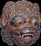 Symmetrical Wood Mask Bali Bev Dunbar Maths Matters